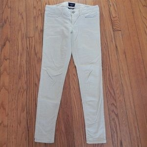 American Eagle Cream Corduroy Jegging Pants Sz 4